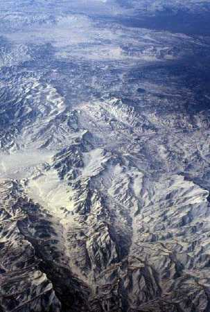 the andes in Chile Argentina from air plane