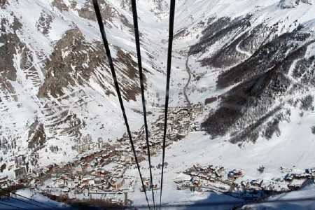 Val d'Isere from the Olympic cable car!